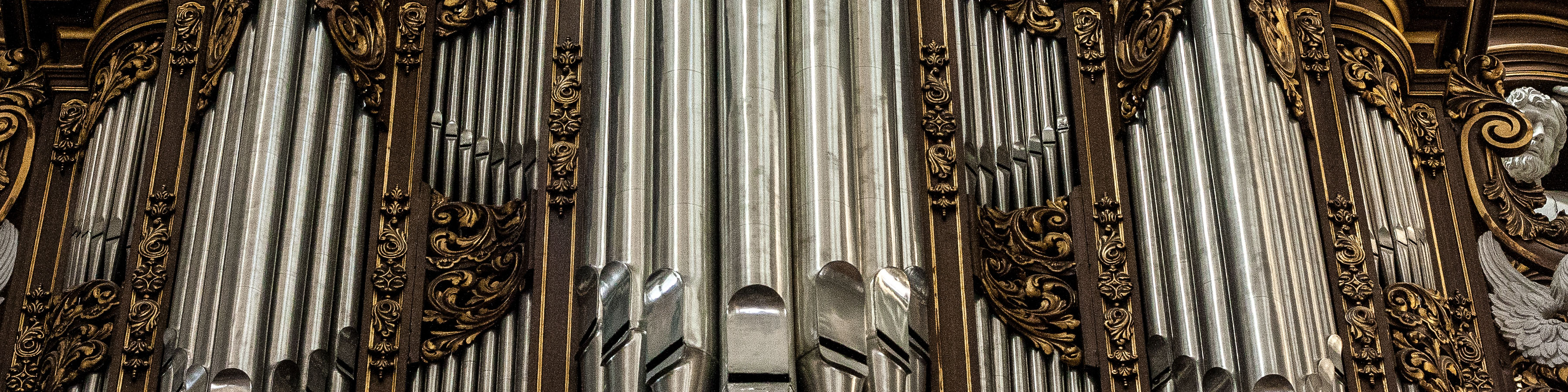 Bovenkerk. Detail Hinsz orgel